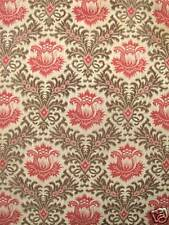 Antique French simulated warp print pink cotton ~