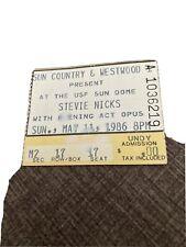 1986 Stevie Nicks Usf Sun Dome 05/11/1986