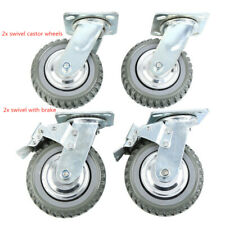 4pcs 360 Pu Swivel Heavy Duty Industrial Rubber 6 Caster Wheels Ball Bearing