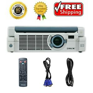Sony VPL-CS4 3LCD Projector SVGA Portable with Accessories bundle by TeKswamp