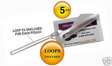 """500 Hot 5 Mil Luggage Tag Laminating Pouches With 6"""" Loops 2-1/2 x 4-1/4 Clear"""