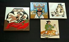 Lot of 4 Mag Mor Art Tiles by Christine Fitzgerald