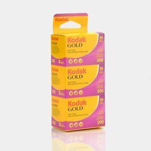 Kodak Gold 200 Color 35mm Film (36 Exposures) - 3 Pack