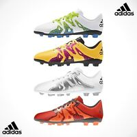 SALE - Adidas X 15.4 FxG Girls Boys Football Boots Orange Pink 10 13 2 3 4 5 6