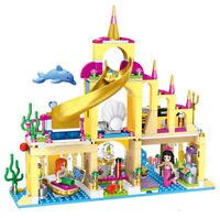 Friends Princess Mermaid Ariel Set Model LEGOs Building Block Girl Toy Kids Gift