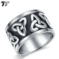 RZ17 Top Quality TT 316L Stainless Steel Cross Punk Ring Silver//Gold Size 8-14