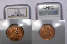 1951-S LINCOLN CENT NGC MS67 RD SUPERGRADE! INV#332-B4