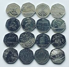 More details for rare 50p coins royal mint olympic beatrix potter kew isle of man wwf fifty pence