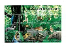 Tanzania 1998 - Endangered Species - Sheet of 12 Stamps - MNH