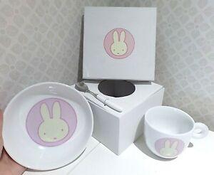 BN MIFFY COLLECTION Mug, Bowl & Spoon breakfast baby GIFT SET bunny rabbit NEW