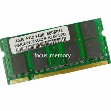 New 4GB DDR2 PC2-6400 800MHz 200pin SO-dimm Laptop Memory RAM Intel Low Density