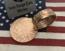 1/2 Oz Copper Incuse Indian Coin Ring. Half Ounce