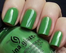 NEW! China Glaze Nail Polish Lacquer in GAGA FOR GREEN