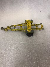 Diecast Boat Trailer from Tootsie Toy Yellow