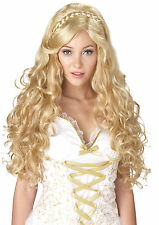 GRECIAN GREEK ROMAN MYTHIC GODDESS LONG BLONDE WIG COSTUME ACCESSORY CC70636