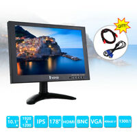 "Portable 10"" Screen 1920X1200 w/Dual Speakers Foldable for CCTV DVR Camera DVD"