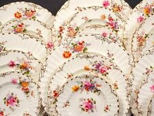 Royal Crown Derby Posies Dinnerware Set Salad Bread Plate  England Burford Shape