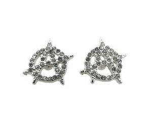 Stone Filled Anarchy Surgical Steel Post Pierced Stud Earring XE1214