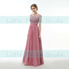 New Lacy Chiffon Scoop Neck Bridesmaid Evening Prom Party Dress KS59 (SIZE 6-24)