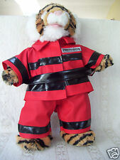 Tiger teddy with Firemans outfit  plush stuffed doll
