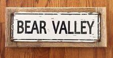 Bear Valley Ski Sierra Mountains California Vintage Metal Sign Mtn Cabin Decor