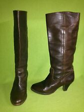 Brown Frye Knee-High Pull-On Boots 7