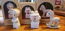 Precious Moments 1986 Ornaments, Our First, Wishing You a Cozy & Rocking Horse
