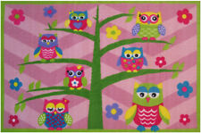 "3x5 Fun Rugs Multi-Color Floral Trees Owls Area Rug FT-14 - Aprx 3' 3"" x 4' 10"""