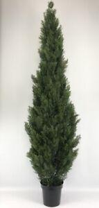 CEDAR 7' OUTDOOR UV RATED TOPIARY TREE ARTIFICIAL BUSH CYPRESS PINE EVERGREEN