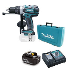 MAKITA 18V DHP458 COMBI DRILL 1 BL1850 BATTERY 240v DC18RC CHARGER CASE