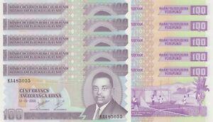 LOT, Burundi 100 Francs (01.05.2006) p37e x 5 PCS UNC