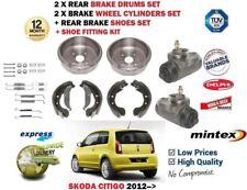 Pour Skoda Citigo 2012> 2X Frein Arrière de + 2X Roue Cylindres + Chaussures +