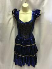 Western Saloon Girl Show girl Moulin Rouge Size 12 Blue black  Hire Quality