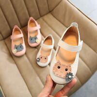 Toddler Kids Baby Girls Cartoon Flower Cat Single Princess Shoes Casual Sandals