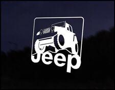 JEEP 4x4 Wrangler Decal Sticker JDM Vehicle Bike Bumper Graphic Funny
