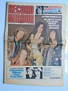RECORD MIRROR March 10th 1973 Slade Thin Lizzy Elvis Frampton Marriott Bolan