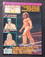 1990 WRESTLING EYE Magazine Nov VF+ WWF WWE Ric Flair Ultimate Warrior Sting