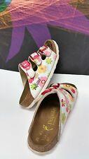 Papillo BIRKENSTOCK 'Flower Bed' Mul-ti Color Slide Sandals -  Girls 26/ 8.5