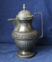 Klassizistische Zinn Kanne + Deckel Henkel-Form Ornamentik wohl 1830-1860  Le30