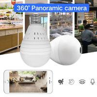360° Panoramic 960P Hidden Wifi IP Camera Light Bulb Security Motion Detection