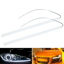 2X 30cm Flexible Car Soft Tube LED Strip Lamp DRL With Turn Signal Flowing Light
