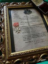 """DIPLÔME (CITATION) POUR ORDRE """"CROIX DE SAINT LOUIS"""" (SANS MÉDAILLE,CADRE)-REPRO"""