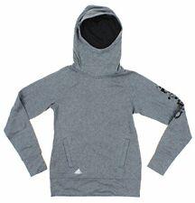 Adidas Youth Girls Ultimate Branded Pullover Hoodie, Dark Grey