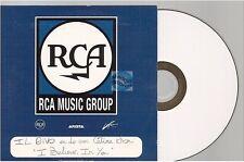 CELINE DION si believe in you CD PROMO french RCA label white label il divo