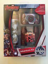 Marvel Avenger 3pc ADVENTURE KIT Real! 35mm Camera & Flashlight & Binoculars