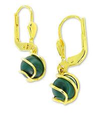 VASCAYA Damen Ohrhänger Ohrring Gold 333 Malachit grün Geschenk Geburtstag