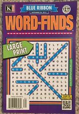 Kappa Puzzle Blue Ribbon Word Finds Large Print  September 2015 FREE SHIPPING