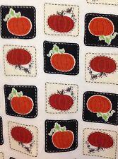 Falls Creek Halloween Turtleneck XL Knit Top Pumpkins Ivory Long Sleeve Cotton