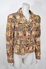 Ralph Lauren Polo Jeans India Block Print Floral Patchwork Jacket Lightweight M