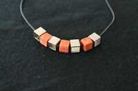 NECKLACE / CORAL AND SILVER / RRP~120 € / -80€ OFF!!!!